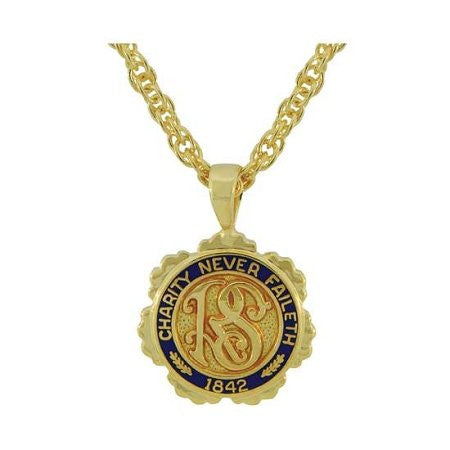 J106 Necklace Relief Society Gold