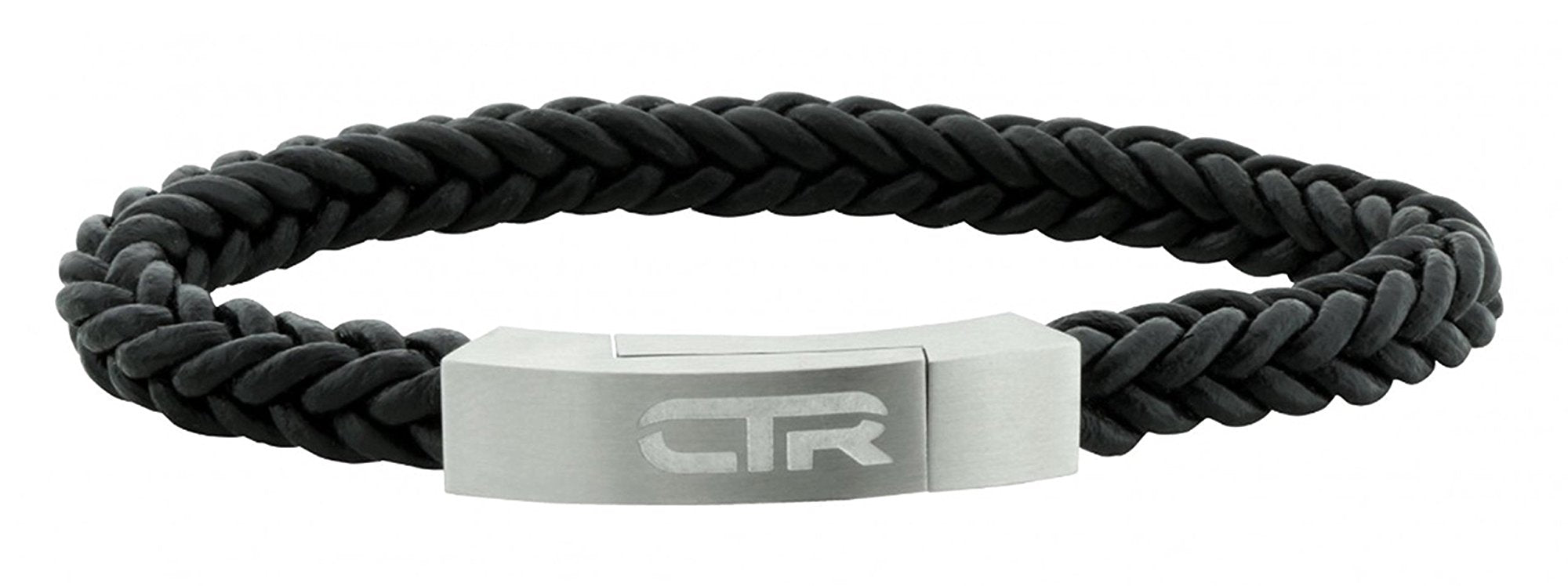 L3 Leather & Stainless Steel CTR bracelet with Magnetic Clasp Surface