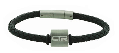 L4 - Leather & Stainless Steel CTR Bracelet with Magnetic clasp Suface
