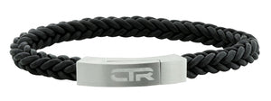 L3 - Leather & Stainless Steel CTR bracelet with Magnetic Clasp Surface