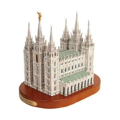 S40W Salt Lake City Temple Replica on wood base Statue One Moment in Time