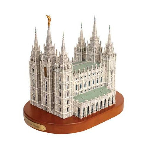 S40W Salt Lake City Temple Replica on wood base Statue