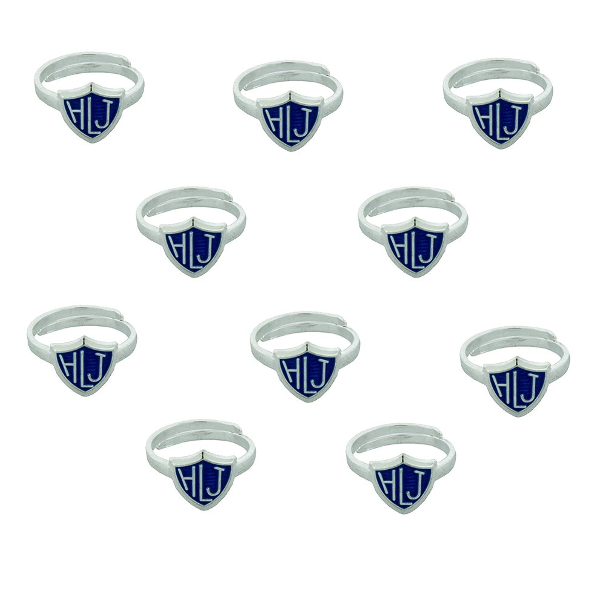 H14HLJ-B Mormon LDS Unisex Kid's CTR Ring 10 Pack Blue Adjustable Alloy One Moment In Time