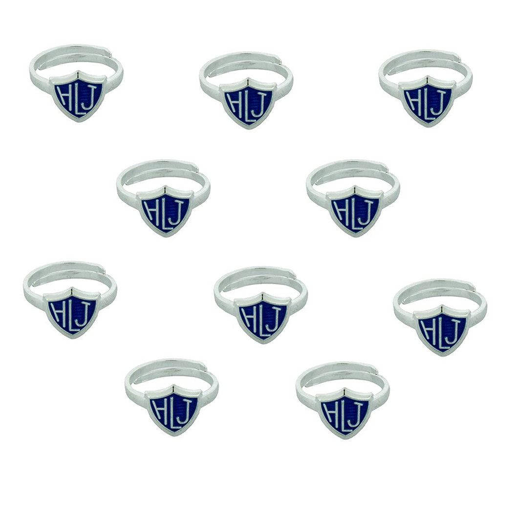 10 Pack - Adjustable HLJ Blue - Spanish Adjustable CTR Ring - H14HLJ Blue