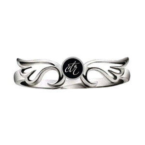 "J131 - CTR Choose the Right Ring STAINLESS STEEL ""AURA"""