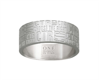 J133- CTR Choose the Right Ring Stainless Steel