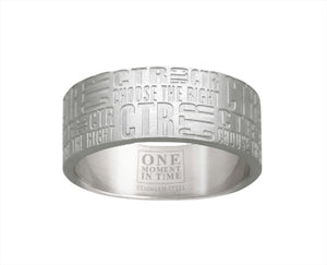 "J133- CTR Choose the Right Ring Stainless Steel ""Tabloid"""