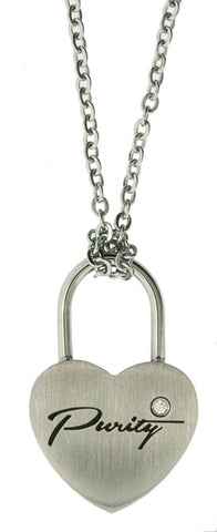 "CH11 - Necklace ""Purity Love Lock"" inspired modern jewelry"