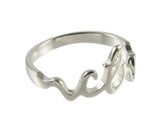H13 Cursive CTR Ring Stainless Steel