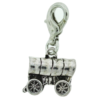 H1 - Pioneer Wagon Charm Antique Silver