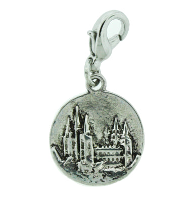 H2 - Salt Lake Temple Charm Antique Silver
