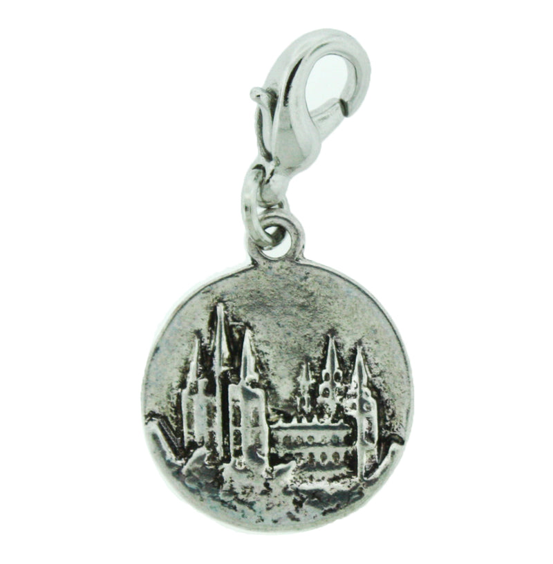 H2 Salt Lake Temple Charm Silver