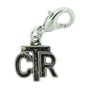 H8 CTR Charm Antique Silver Tone One Moment in Time