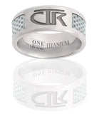 J113w CTR Ring White Titan Titanium with White Carbon Fiber inlay