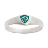 J56G CTR Ring Sterling Steel Silver Classic Green One Moment in Time
