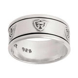 J61 CTR Ring Sterling Silver Language Universal Spinner One Moment in Time