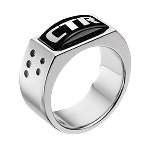 "J142 - CTR Ring Stainless Steel ""Illusion"""