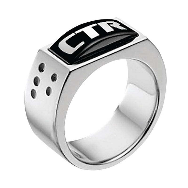 J142 CTR Ring Stainless Steel Illusion