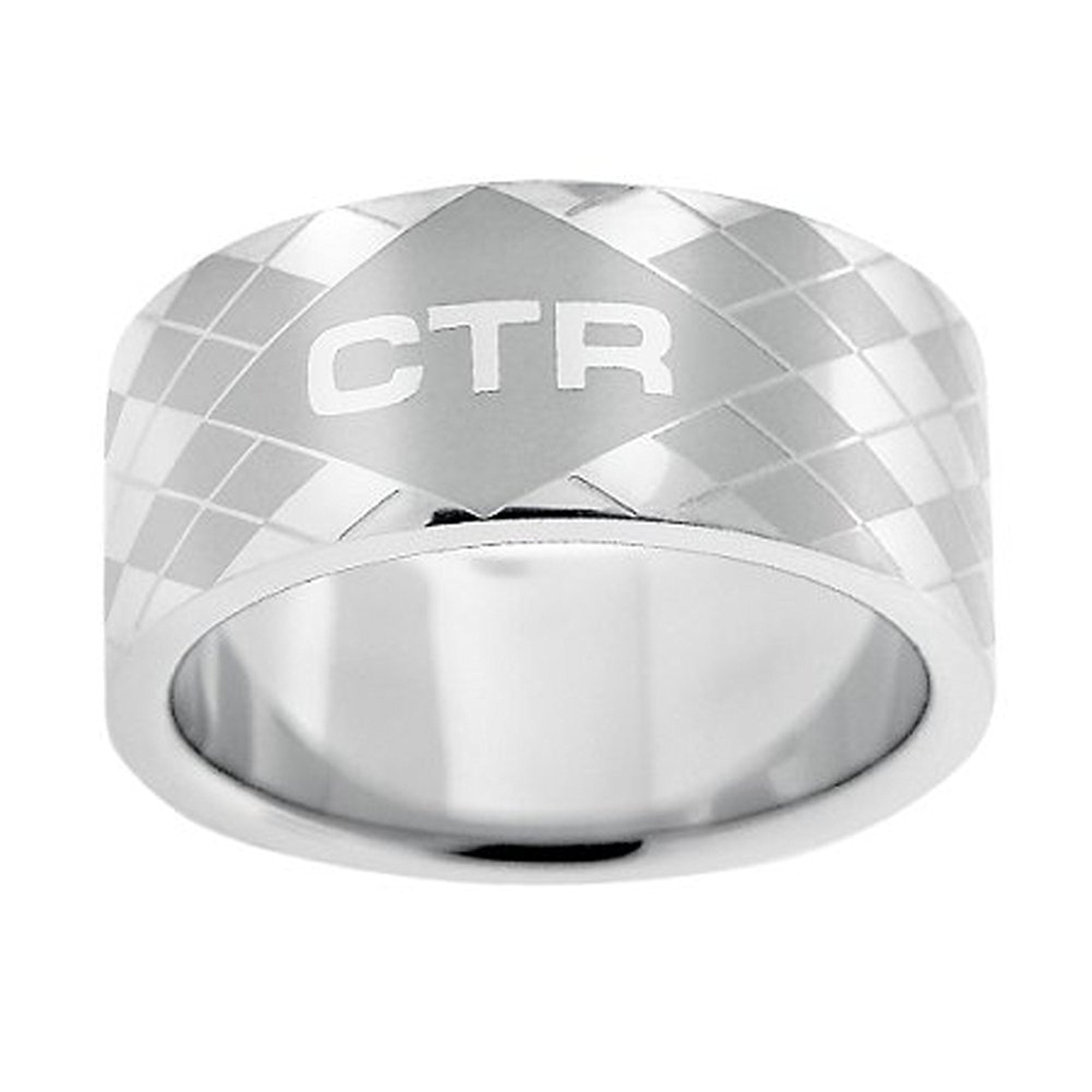 J148 CTR RING Stainless Steel Silver Argyle