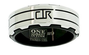 "J190 - ""Gear"" Stainless Steel - CTR Ring"