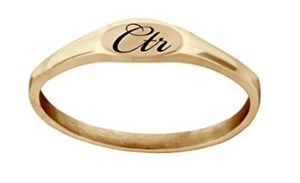 "J183R - CTR RING Rose Gold Stainless Steel ""PIXI"" Designer inspired beautiful elegant design"