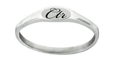 "J183 - CTR RING Stainless Steel ""PIXI"" Designer inspired beautiful elegant design"