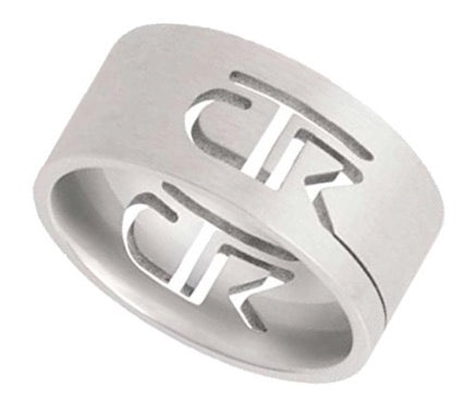 """Cutout"" - CTR Ring - Stainless Steel - J69"