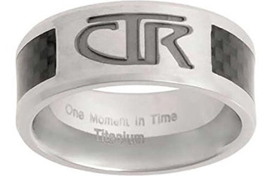 J113 - CTR RING Titanium With Carbon Fiber Inlay