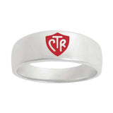 J57R CTR Ring Sterling Silver Band Red One Moment In Time
