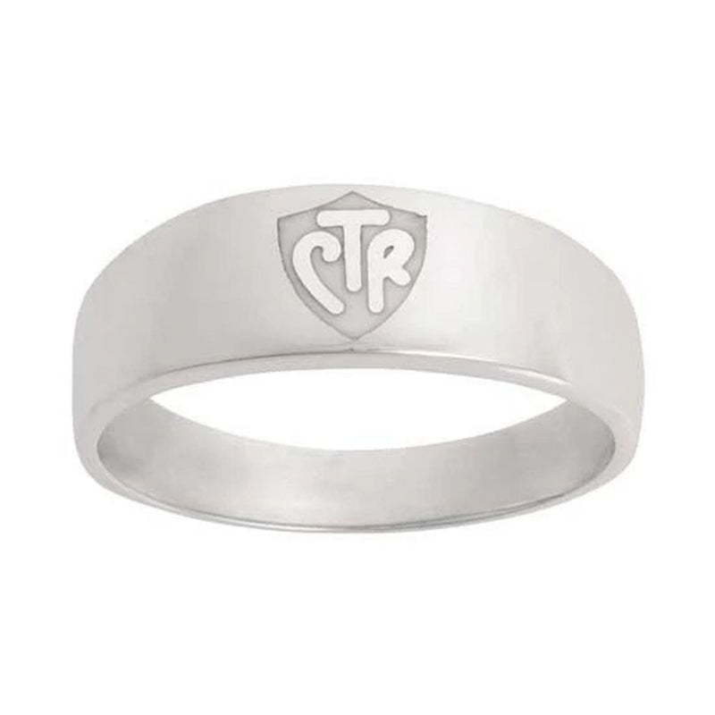 J57W CTR Ring Sterling Silver Band White One Moment In Time