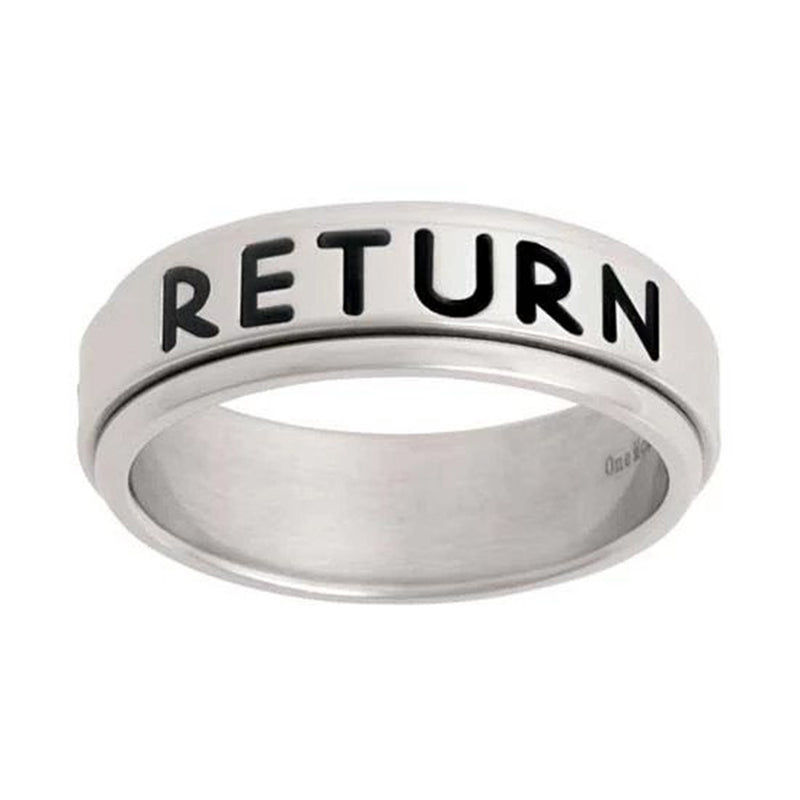 J44N CTR Ring Spinner Return With Honor Stainless Steel One Moment In Time