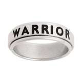 J41N Mormon LDS Unisex CTR Ring Spinner Warrior Stainless Steel One Moment In Time
