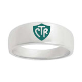 J57G CTR Ring Sterling Silver Band Green One Moment In Time