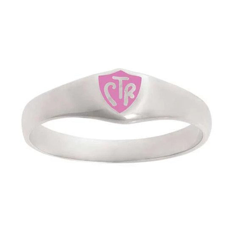 J56P CTR Ring Sterling Silver Classic Pink Stainless Steel One Moment in Time