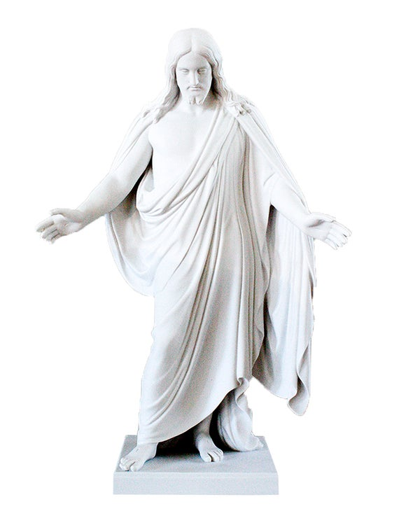 "S1 Marble Statue Christus Statue 19"" One Moment in Time"