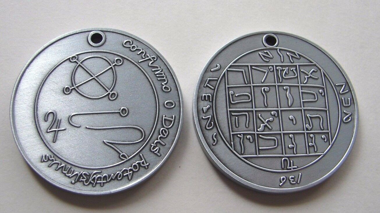 M1AS Joseph Smith Jupiter Talisman Antique Silver plated Coin One Moment in Time