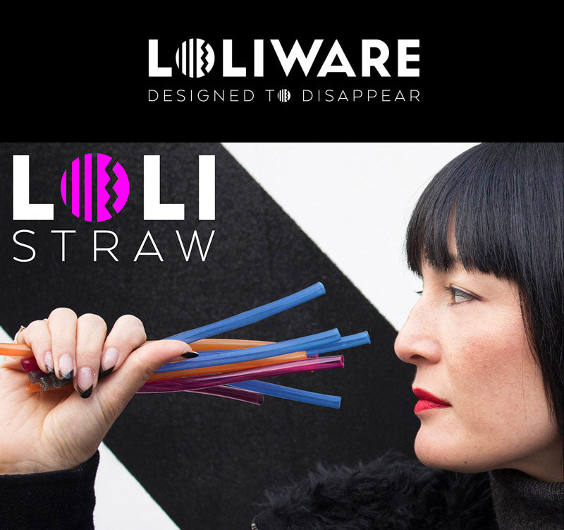 Lolistraw Edible Straw made by the people from Loliware Edible Cups