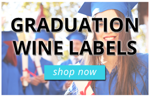 Graduation Wine Labels
