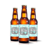 Ikat Monogram - Wedding Beer Labels