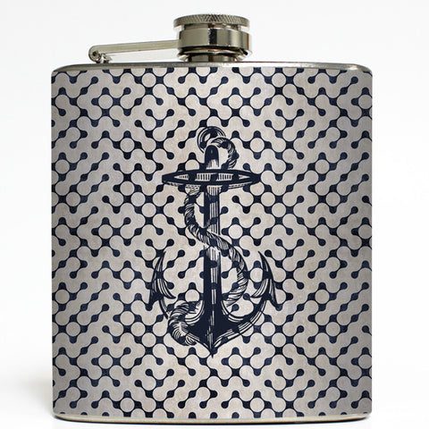 Anchors Aweigh - Nautical Flask