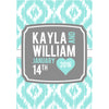 Ikat Monogram - Wedding Wine Labels