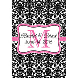 Monogram Damask - Wedding Wine Labels