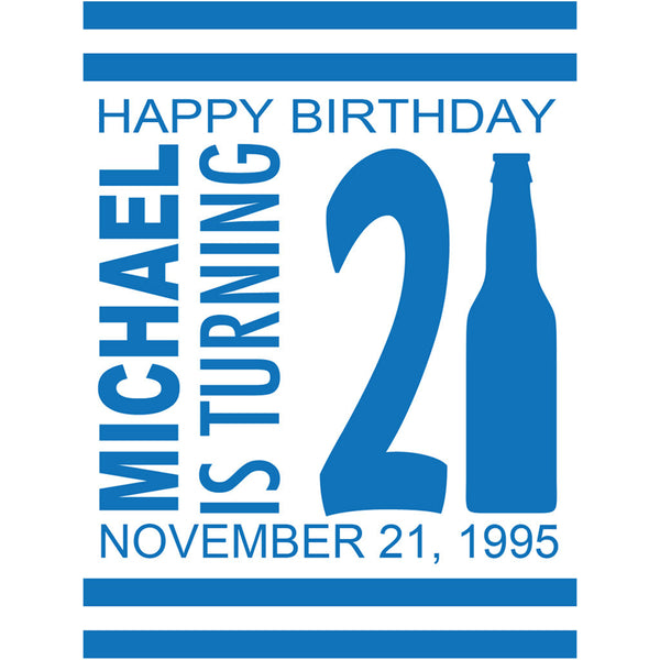 21st Birthday - Birthday Beer Labels
