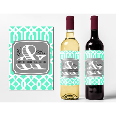 Mr. & Mrs. Trellis - Wedding Wine Labels