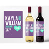 Modern Monogram - Wedding Wine Labels