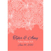 White Flowers - Wedding Wine Labels
