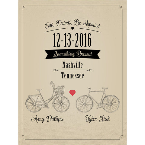 Bicycle - Wedding Beer Labels
