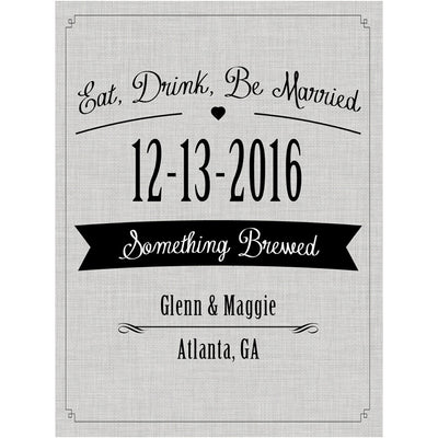 Eat, Drink, Be Married - Wedding Beer Labels