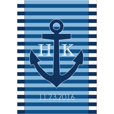 Nautical Anchor Initials - Wedding Wine Labels