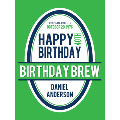 Birthday Brew - Birthday Beer Labels
